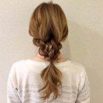 おさげ髪がオシャレアレンジに変身!三つ編みだけで作る編みおろしヘアアレンジが可愛い
