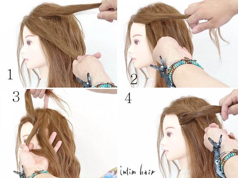 とっておきの簡単ツイストで、いつものヘアアレンジにひと工夫!ツイスト編み込みのやり方