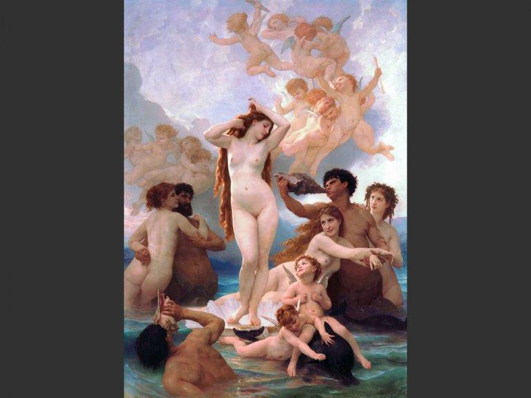 理想の姿は、絵の中の美女たち