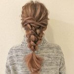 春はラプンツェルみたいな編みおろしヘアがおすすめ!三つ編みで作る簡単ヘアアレンジ