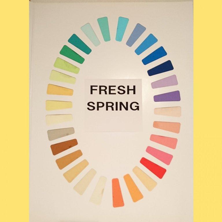 「スプリング」はイエローベースの明るく澄んだ色のグループです