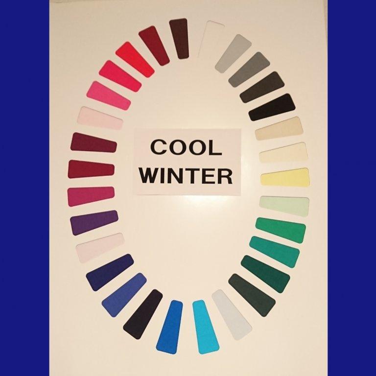 「ウィンター」はブルーベースのシャープな澄んだ色のグループです